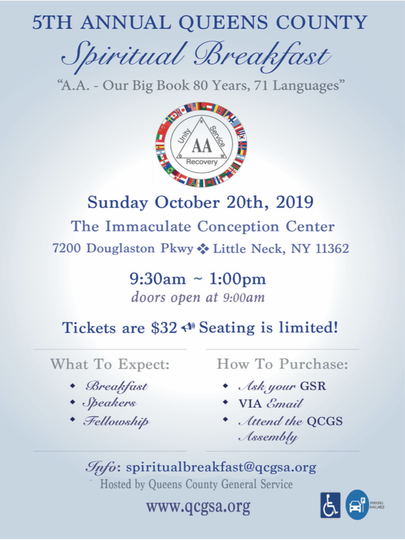 5th Annual Queens County Spiritual Breakfast