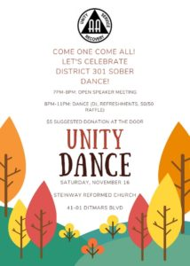 "District 301 presents - A ""Unity"" Dance @ Steinway Reformed Church"