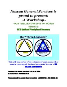 Nassau County General Service presents ~A Workshop~ @ Virtual Platform